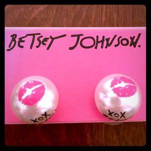 NWOT Betsy Johnson Pearce's earrings